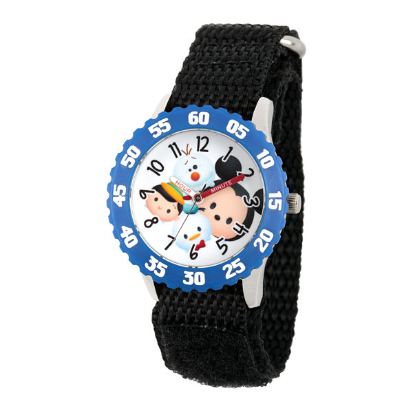 Disney Tsum Tsum Boys Black Strap Watch-Wds000116