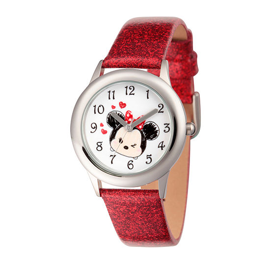 Tsum Tsum Girls Red Strap Watch-Wds000122