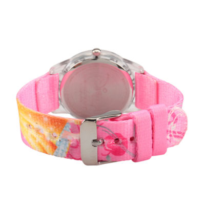 Disney Snow White Girls Pink Strap Watch-Wds000128