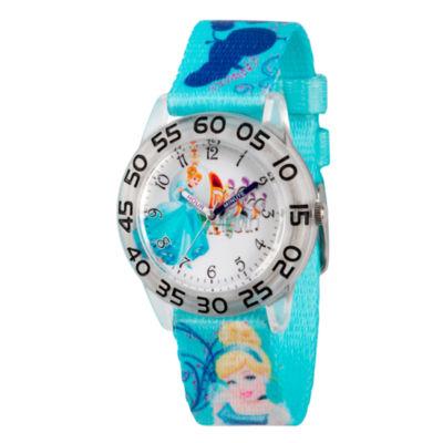 Disney Cinderella Girls Blue Strap Watch-Wds000129