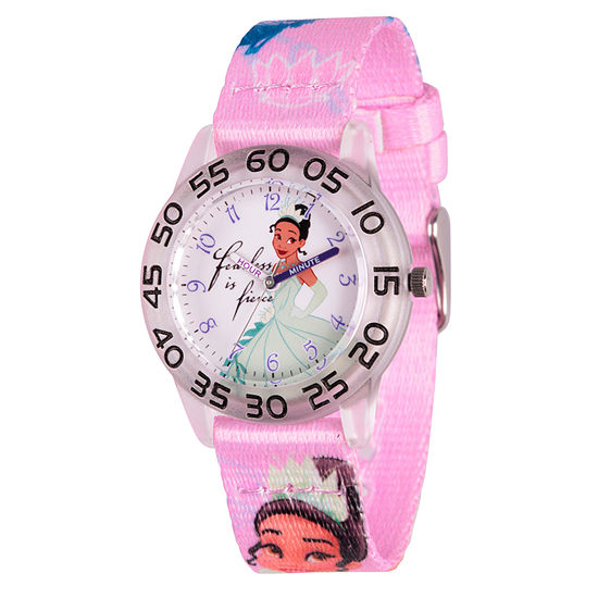 Disney Princess The Frog Girls Pink Strap Watch Wds000131