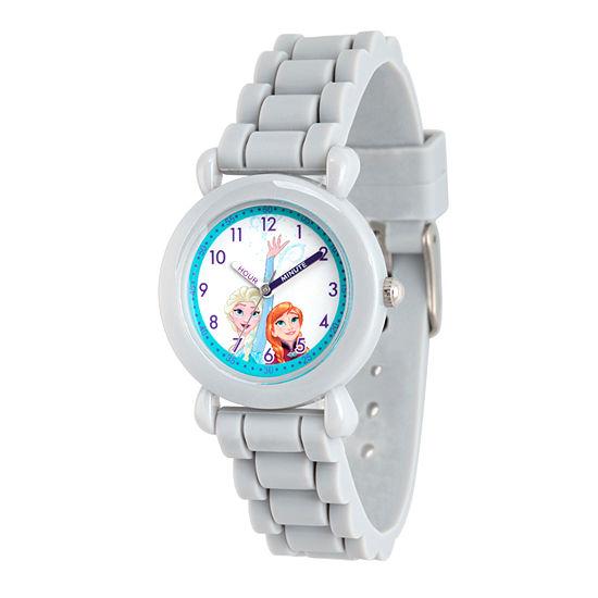 Disney Frozen Girls Gray Strap Watch-Wds000134