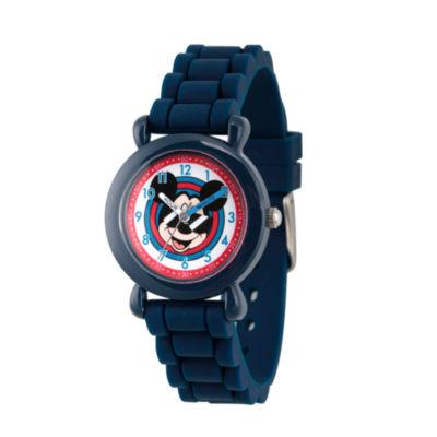 Disney Mickey Mouse Boys Blue Strap Watch-Wds000143