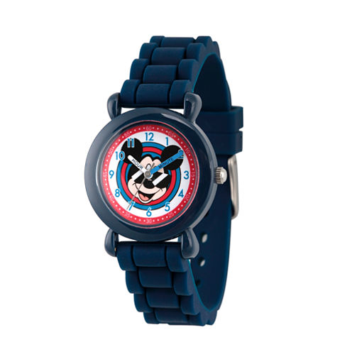 Disney Mickey Mouse Boys Blue Strap Watch-Wds000143