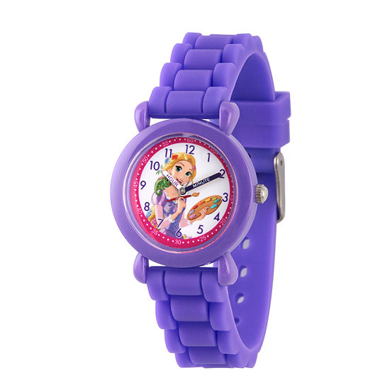 Tangled Girls Purple Strap Watch-Wds000147