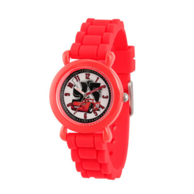 Disney Cars Boys Red Strap Watch-Wds000149