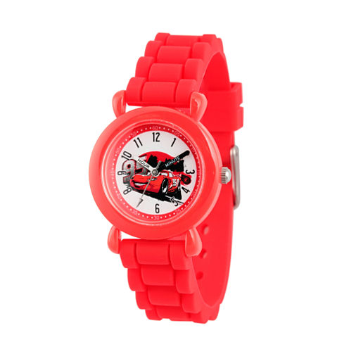 Disney Cars Boys Red Strap Watch-Wds000151