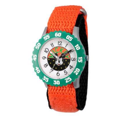 Disney Mickey Mouse Boys Orange Strap Watch-Wds000152
