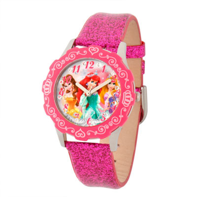 Disney Disney Princess Girls Pink Strap Watch-W001597