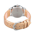 Beauty and the Beast Girls Gold Tone Leather Strap Watch-W002923