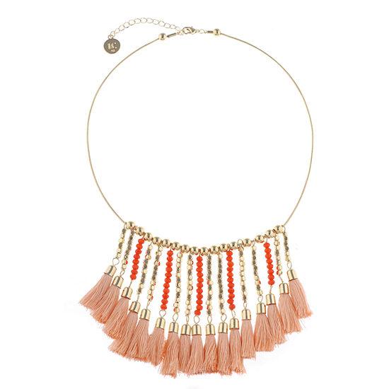 Liz Claiborne Orange 17 Inch Snake Collar Necklace