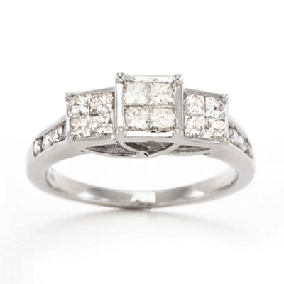 1 CT. T.W. Diamond Ring 10K White Gold