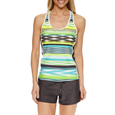 jcpenney.com | ZeroXposur® Stripe Tankini Swimsuit Top or Action Shorts