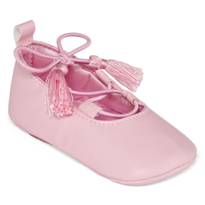 Okie Dokie Baby Girls Pink Ballet Shoes - Baby