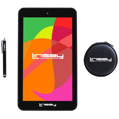 "LINSAY® 7"" HD Quad Core Android 6.0 Tablet 8GB DUAL CAM with Earphones and Pen"