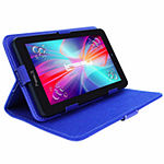 "LINSAY® 7"" HD QUAD CORE Android 6.0 Tablet 8GB DUAL CAM Bundle with Blue Leather Protective Case"