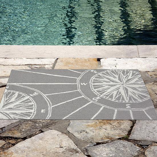 Liora Manne Frontporch Compass Indoor/Outdoor Rug