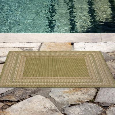 Liora Manne Terrace Etched Border Indoor/Outdoor Rug
