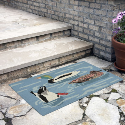 Liora Manne Frontporch Duck Life Indoor/Outdoor Rug