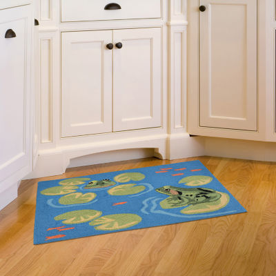 Liora Manne Frontporch Frogs Indoor/Outdoor Rug