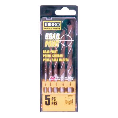 Mibro 977051 5 Piece Brad Point Set