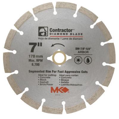 "Mk Diamond 167015 7"" Contractor Diamond Blade"