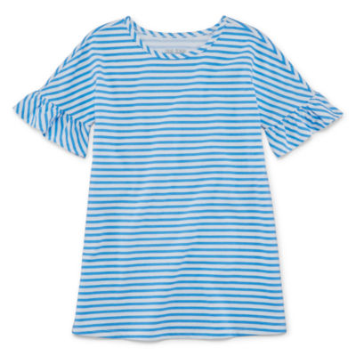 Okie Dokie Short Sleeve Stripe A-Line Dress - Toddler Girls