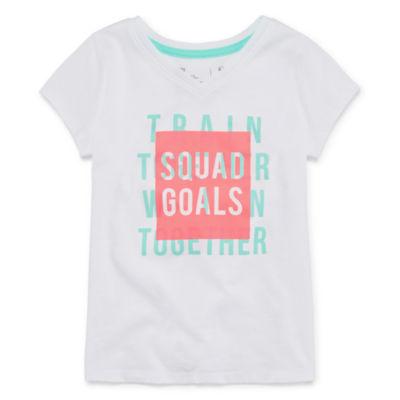 Xersion Short Sleeve Graphic T-Shirt-Toddler Girls
