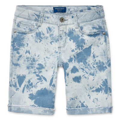 Arizona Skinny Fit Denim Bermuda Shorts Girls - Plus