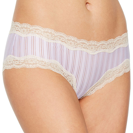 Ambrielle Sheer Stripe Knit Hipster Panty