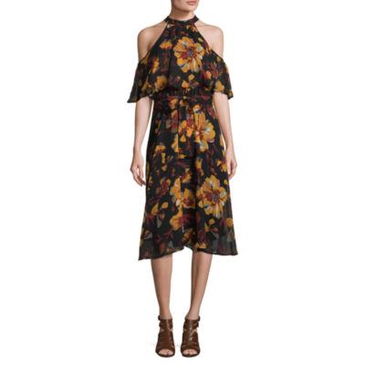 Weslee Rose Short Sleeve Floral Fit & Flare Dress