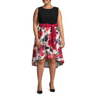 R & K Originals Sleeveless Floral Fit & Flare Dress - Plus