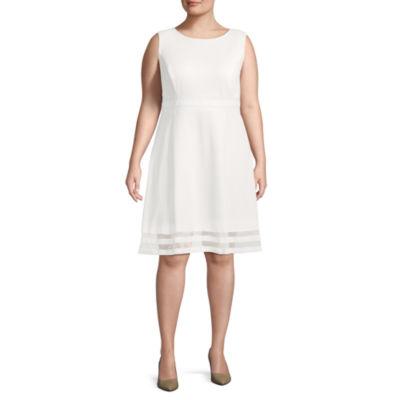 R & K Originals Sleeveless Fit & Flare Dress - Plus