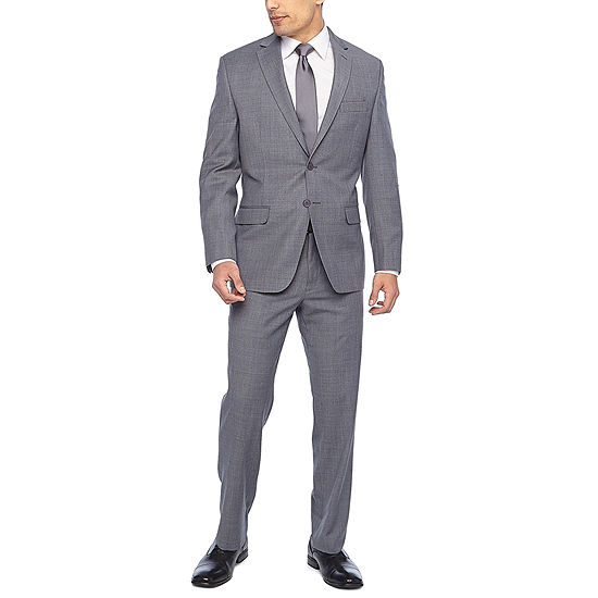 Collection by Michael Strahan Gray Check Suit - Classic Fit