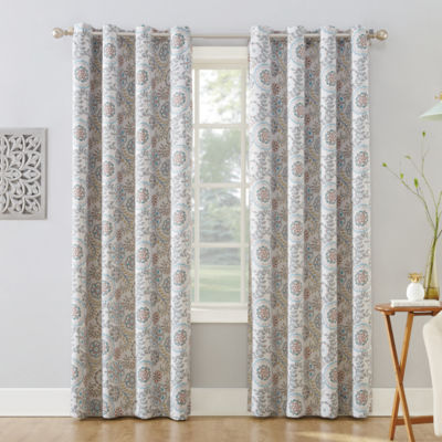 Sun Zero Romina Blackout Grommet-Top Curtain Panel