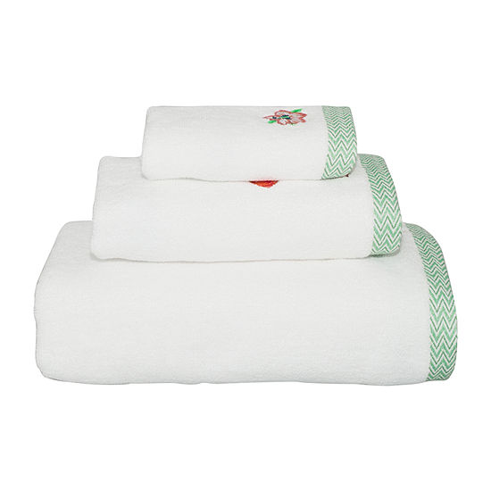 Destinations Palm Leaf Flamingo Bath Towel Collection
