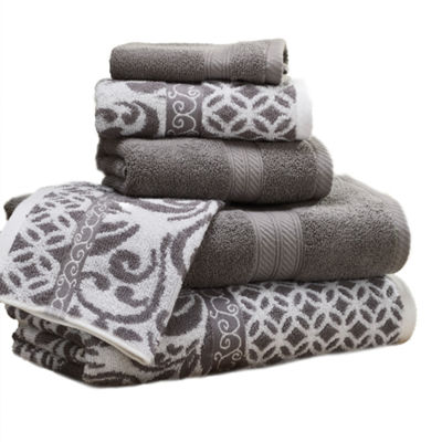 Pacific Coast Textiles Filigree Yarn Dyed 6-pc. Bath Towel Set