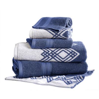Pacific Coast Textiles Diamond Yarn Dyed 6-pc. Bath Towel Set