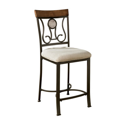 Signature Design by Ashley® Hopstand Set of 4 Counter Height Upholstered Bar Stools