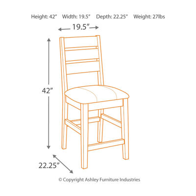 Signature Design by Ashley® Larchmont Set of 2 Upholstered Counter Height Stools
