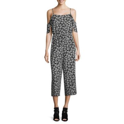 Libby Edelman ShortSleeve Cold ShoulderBlouson Culotte Jumpsuit