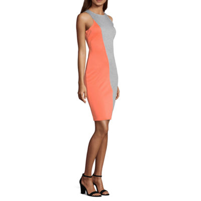 Project Runway Sleeveless Colorblock Bodycon Dress
