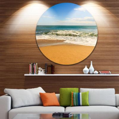 Designart Daylight Relaxation Landscape Photography Circle Metal Wall Art