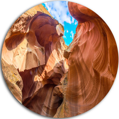 Designart Sky from Antelope Canyon Landscape PhotoCircle Metal Wall Art
