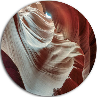 Designart Antelope Canyons Hollow Landscape PhotoCircle Metal Wall Art