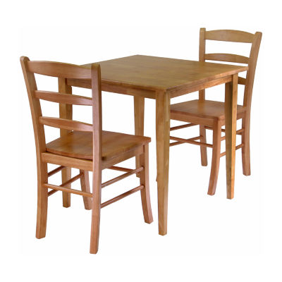 Winsome Groveland 3pc Dining Set -  Square Table with 2 Chairs