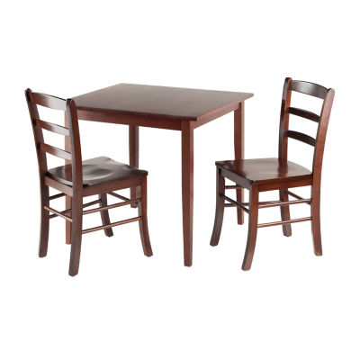 Winsome Groveland 3-Pc Square Dining Table with 2Chairs