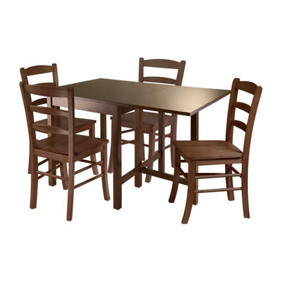 Winsome Lynden 5pc Dining Table with 4 Ladder BackChairs