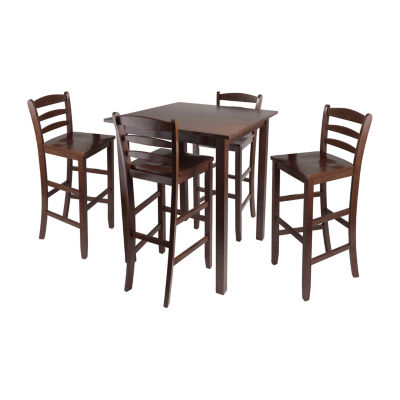 Winsome Parkland 5pc High Table with 2 Ladder Back Stools