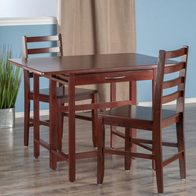 Winsome Taylor 3-Pc Set Drop Leaf Table with Ladder Back Chair